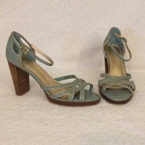 Robin's Egg Tiffany Blue Seychelles Sandal Heels 6